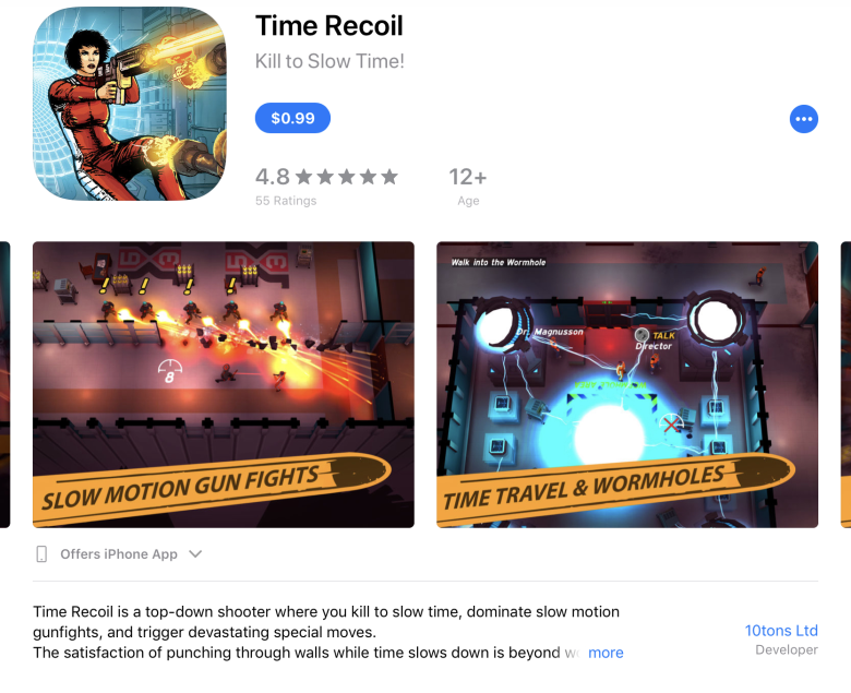 Time Recoil ($5.99 > $0.99 행사중) 사진